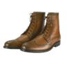 Handmade Men brown wingtip ankle boots